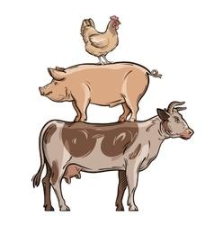 свинья корова курица